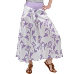 Floral In Crocus Petal  Satin Palazzo Pants by TimelessFashion