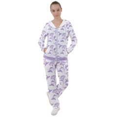 Floral In Crocus Petal  Women s Tracksuit by TimelessFashion