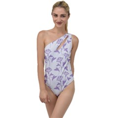 Floral In Crocus Petal  To One Side Swimsuit by TimelessFashion