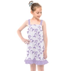 Floral In Crocus Petal  Kids  Overall Dress by TimelessFashion