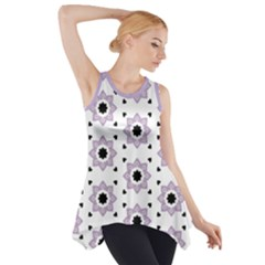 Flower Star  Side Drop Tank Tunic by TimelessFashion