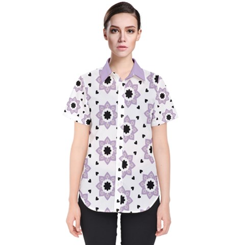 Flower Star  Women s Short Sleeve Shirt by TimelessFashion