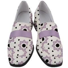 Flower Star  Women s Chunky Heel Loafers by TimelessFashion