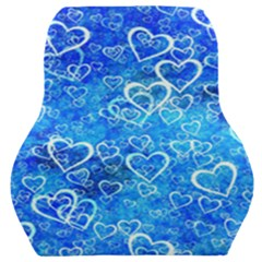 Valentine Heart Love Blue Car Seat Back Cushion  by Mariart