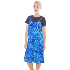 Valentine Heart Love Blue Camis Fishtail Dress by Mariart