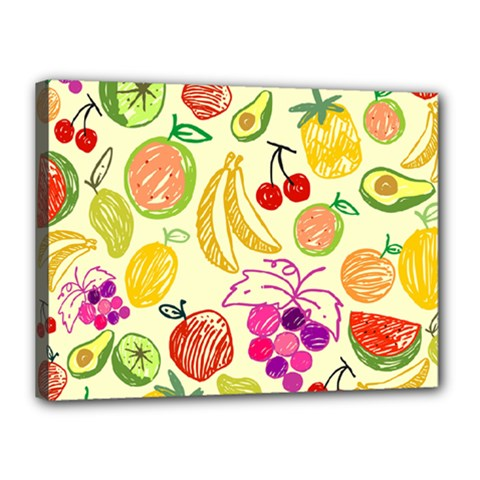 Seamless Pattern Fruit Canvas 16  X 12  (stretched) by Mariart
