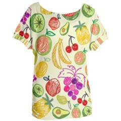 Seamless Pattern Fruit Women s Oversized Tee by Mariart