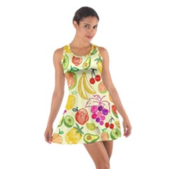 Seamless Pattern Fruit Cotton Racerback Dress by Mariart