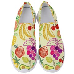 Seamless Pattern Fruit Men s Slip On Sneakers by Mariart