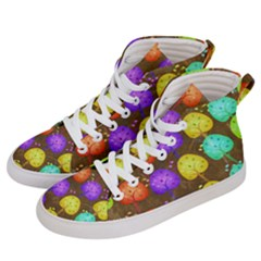 Textured Grunge Background Pattern Women s Hi Top Skate Sneakers by Mariart