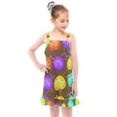 Textured Grunge Background Pattern Kids  Overall Dress