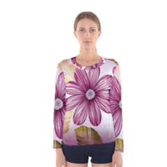 Star Flower Women s Long Sleeve Tee