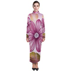Star Flower Turtleneck Maxi Dress by Mariart