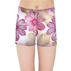 Star Flower Kids  Sports Shorts by Mariart