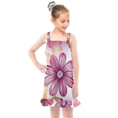 Star Flower Kids  Overall Dress by Mariart