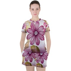 Star Flower Women s Tee And Shorts Set