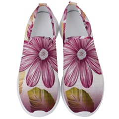 Star Flower Men s Slip On Sneakers by Mariart