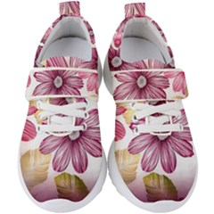 Star Flower Kids  Velcro Strap Shoes by Mariart