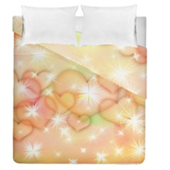 Valentine Heart Love Pink Duvet Cover Double Side (queen Size)