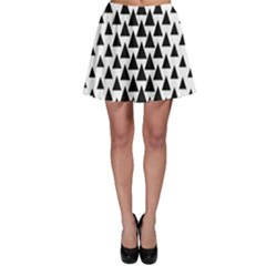 Triangle Forest Wood Tree Stylized Skater Skirt by AnjaniArt
