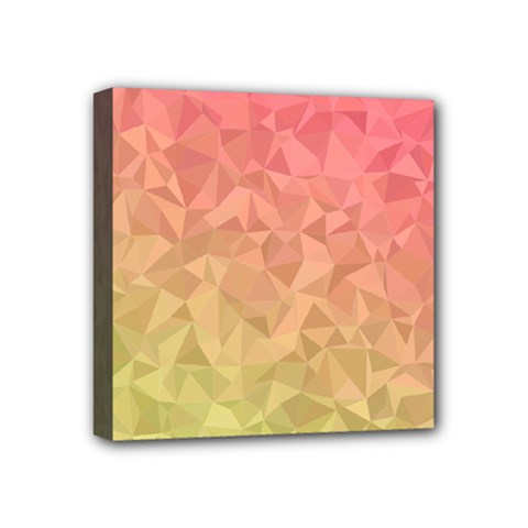 Triangle Polygon Mini Canvas 4  X 4  (stretched) by Alisyart