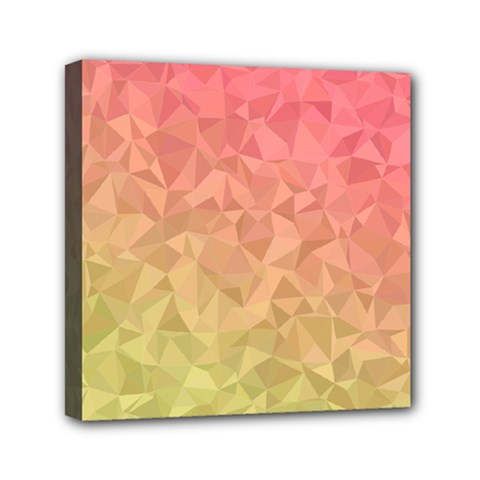 Triangle Polygon Mini Canvas 6  X 6  (stretched) by Alisyart