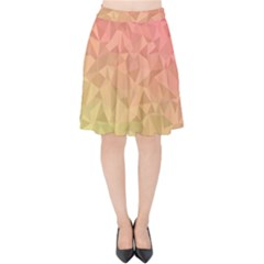 Triangle Polygon Velvet High Waist Skirt