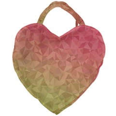 Triangle Polygon Giant Heart Shaped Tote by Alisyart