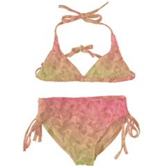 Triangle Polygon Kids  Classic Bikini Set