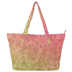 Triangle Polygon Full Print Shoulder Bag by Alisyart