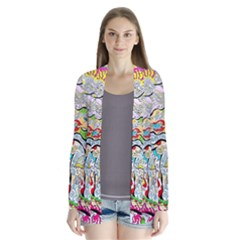 Supersonic Pyramid Protector Angels Drape Collar Cardigan