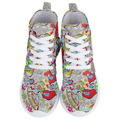 Supersonic Pyramid Protector Angels Women s Lightweight High Top Sneakers by chellerayartisans