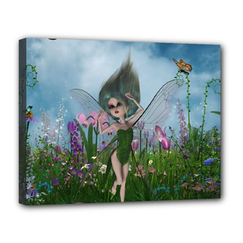 Cute Little Fairy Canvas 14  X 11  (stretched)