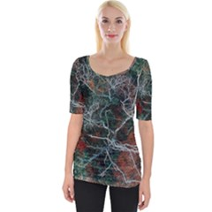 Night In The Forest Wide Neckline Tee
