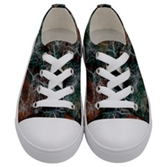 Night In The Forest Kids  Low Top Canvas Sneakers