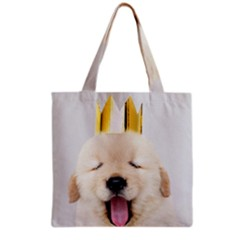 Royal Puppy Yawns Grocery Tote Bag