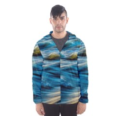 Ocean Waves Hooded Windbreaker (men) by WensdaiAddamns