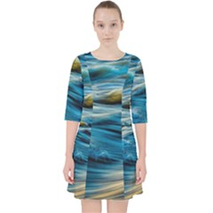Ocean Waves Pocket Dress by WensdaiAddamns