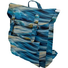 Ocean Waves Buckle Up Backpack by WensdaiAddamns