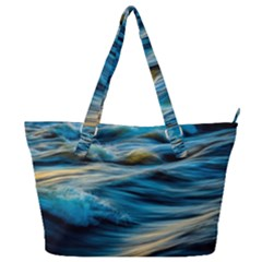 Ocean Waves Full Print Shoulder Bag by WensdaiAddamns