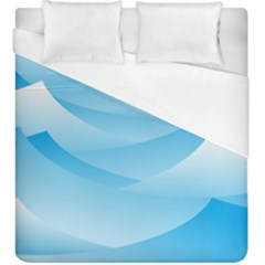 Waves Background Duvet Cover (king Size)