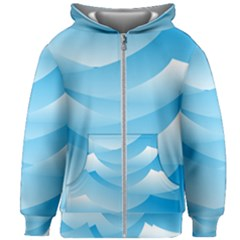 Waves Background Kids  Zipper Hoodie Without Drawstring