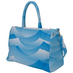 Waves Background Duffel Travel Bag