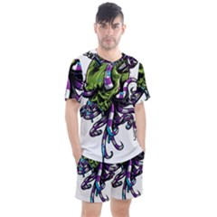 Tentacle Skull Men s Mesh Tee And Shorts Set