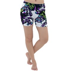 Tentacle Skull Lightweight Velour Yoga Shorts