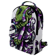 Tentacle Skull Flap Pocket Backpack (small)