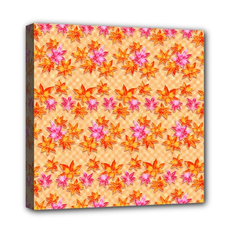 Star Leaf Autumnal Leaves Mini Canvas 8  X 8  (stretched)