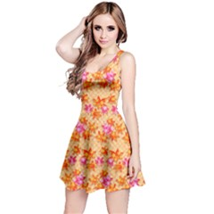Star Leaf Autumnal Leaves Reversible Sleeveless Dress
