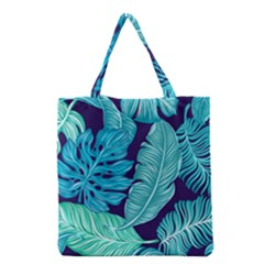 Tropical Greens Leaves Banana Grocery Tote Bag