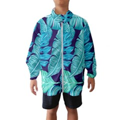 Tropical Greens Leaves Banana Windbreaker (kids)
